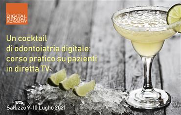 Un cocktail  di odontoiatria digitale: corso pratico su pazienti  in diretta TV